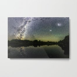 Henry Lake New Zealand Under Southern Hemisphere Skies By Olena Art Metal Print