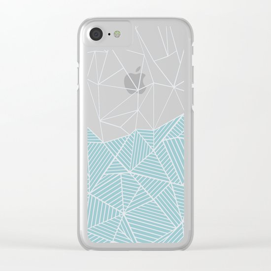 Ab Half and Half Salt Clear iPhone Case