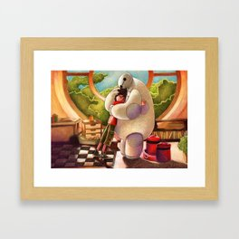 Hiro and Baymax Framed Art Print