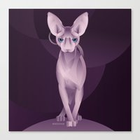 sphynx Canvas Prints featuring Sphynx by Dezignjk (Justin Kohout)
