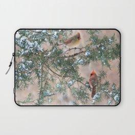 Winter Pair: Cardinals Laptop Sleeve