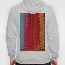 Warm red & turquoise Floor Pattern Art Hoody