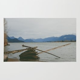 River and Mountains Rug