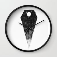 dracula Wall Clocks featuring Dracula by Colohan