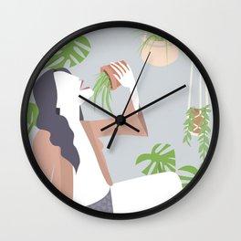 Singing Plant Lady Wall Clock