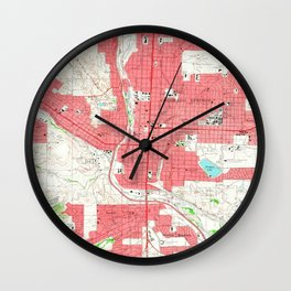 Vintage Map of Colorado Springs CO (1961) Wall Clock