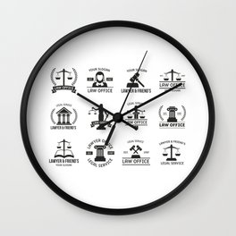 Legal Services Wall Clock
