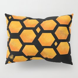 Bee in a Honeycomb Pillow Sham
