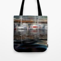 ships Tote Bags featuring Ghost Ships by Paul & Fe Photography