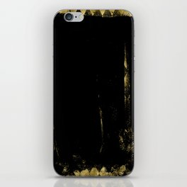 Black and Gold grunge modern abstract background I iPhone Skin