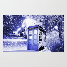 The Winter Tardis Rug