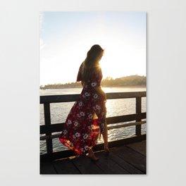 Red Flower Dress Canvas Print