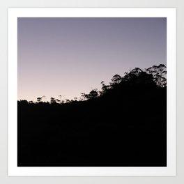 Silhouette of trees Art Print