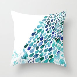 Inkdrops of Joy - Right Side Throw Pillow