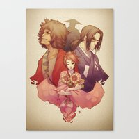 samurai champloo Canvas Prints featuring Samurai Champloo by Kathryn Layno