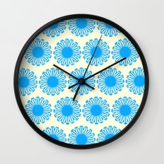 Vintage Flower_Turquoise Wall Clock