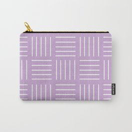 Abstract geometric pattern - purple and white. Carry-All Pouch
