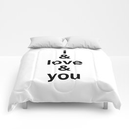 i & love & you Avett Brothers Comforters