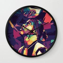 Ronaldinho on WPAP Pop Art Portrait Wall Clock
