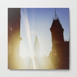 The Sun Sets on Parliament Metal Print