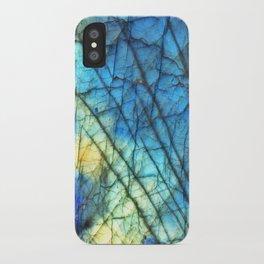Royal Labradorite Crystal Agate Gemstone Print iPhone Case