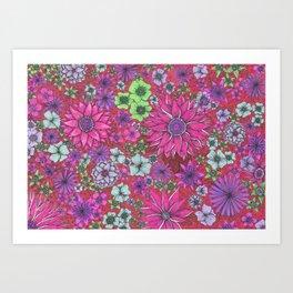 Secret Garden in Pink Art Print
