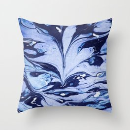 Dark and Bright and Blue Throw Pillow