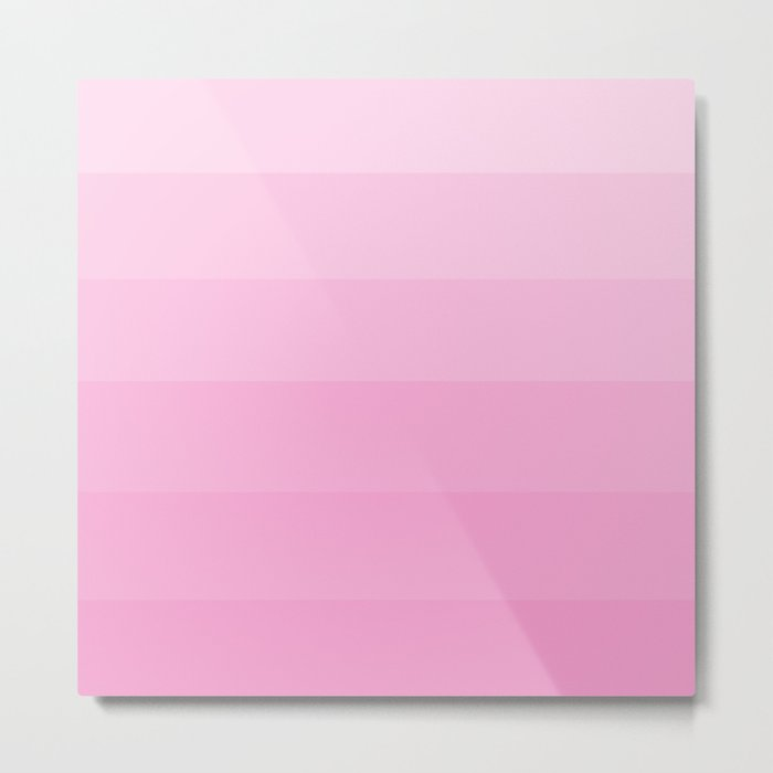 Soft Pastel Pink Hues - Color Therapy Metal Print