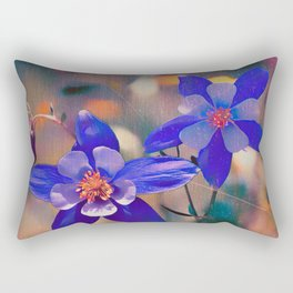 Colorado Columbine Flower Rectangular Pillow