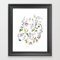 Grape bubbles Framed Art Print