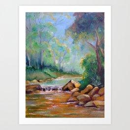 Caminho das águas I (The water way I) Art Print
