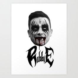 Black Metal Robbie Art Print