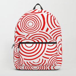 circles in red and white Backpack