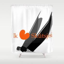 Ik hou van Skûtsjesilen Shower Curtain
