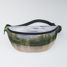 Concept nature : Relaxing by a lake Fanny Pack