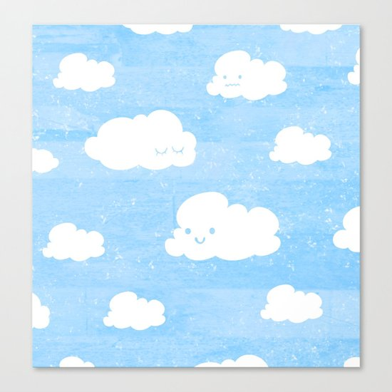 Weekends and Clouds Canvas Print