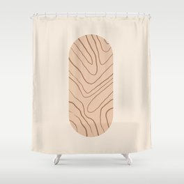 DATE AND TIME - Hand drawn modern abstract art Shower Curtain