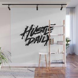 Hustle Daily Black & White Wall Mural