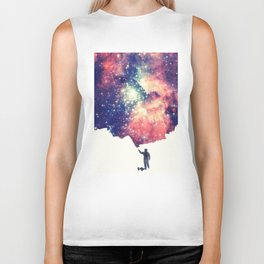 Painting the universe (Colorful Negative Space Art) Biker Tank