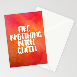 Fire Breathing Bitch Queen - Watercolor Stationery Cards