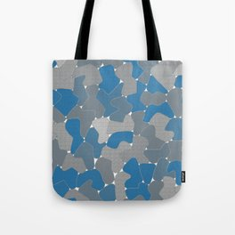 Blue Wall Etching Tote Bag