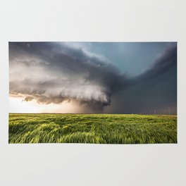 Leoti's Masterpiece - Incredible Storm in Western Kansas Rug