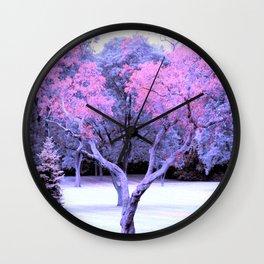 Pink & Purple Tree Landscape Wall Clock