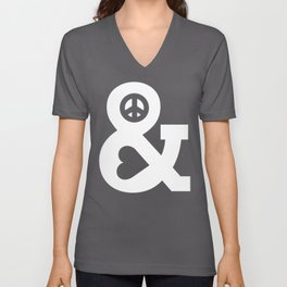 Peace and Love (pink edition) Unisex V-Neck