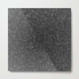 Monochrome Pixels 2 Metal Print