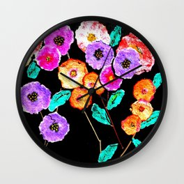 Bunches of Posies Wall Clock