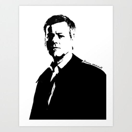 DI Greg Lestrade Art Print