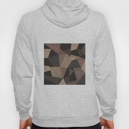 Brown pattern . Leather patches . Hoody