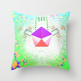 Trifold - color Throw Pillow