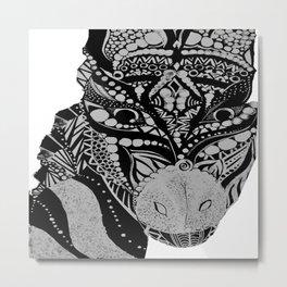 African Zebra Metal Print